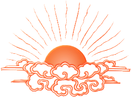 sunrise the logo of kum nye yoga